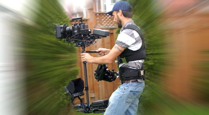 Pro Steadicam with wireless follow focus & video system