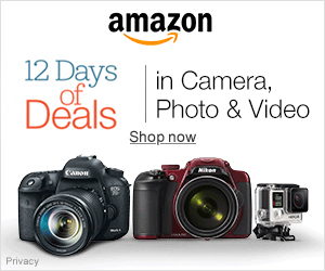banner Amazon 12 days of deals cameras