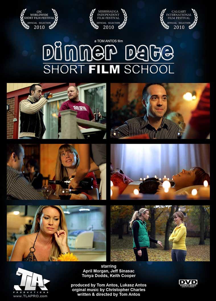 DVD Front Cover - Dinner Date Short Film School