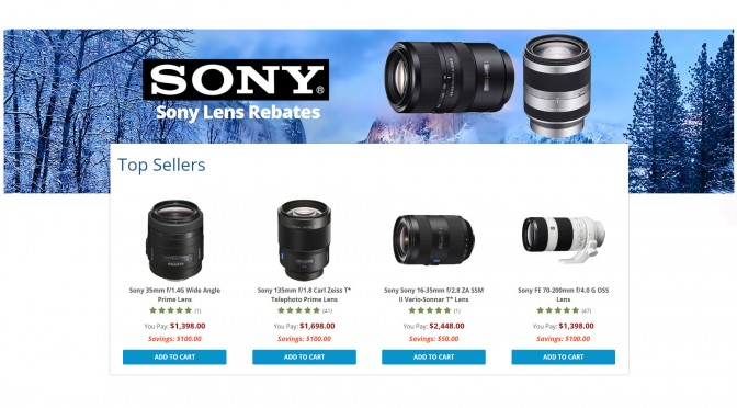 Sony lens promotion at BH Photo Video