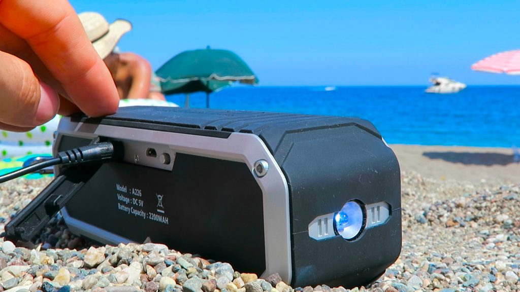 using Archeer A226 speaker on a beach