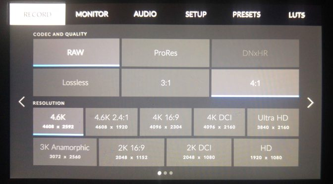 Firmware Update for BlackMagic URSA Mini Cameras with new OS