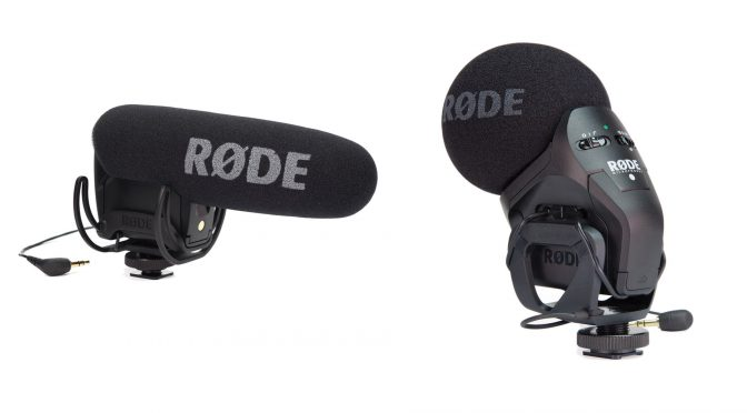 Rode on-camera mic comparison VideoMic Pro and Stereo