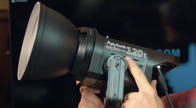 Aputure 120t Light and Light Dome Softbox