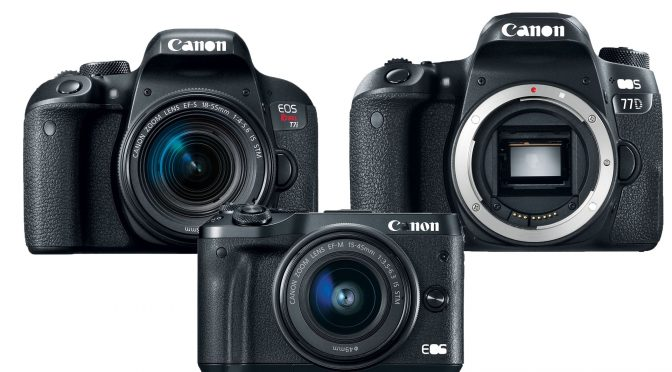 Canon releases M6, 77D and T7i – great HD cameras, but no 4K
