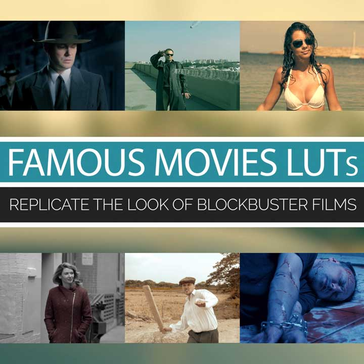 Famous Movies LUTs by Tom Antos