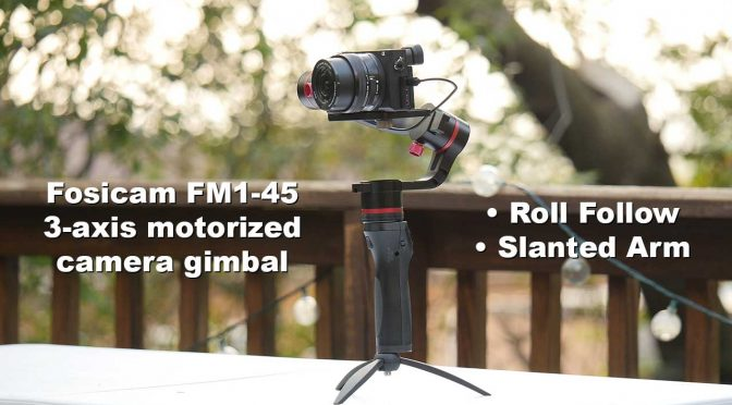 Fosicam makes exciting entry in the 3-axis camera gimbal world