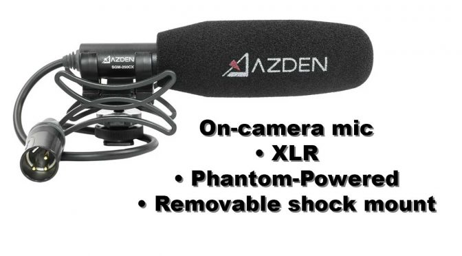 On-camera mic that doubles as boom mic: Azden SGM 250CX