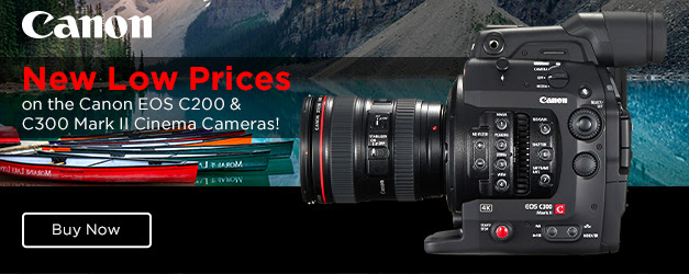 $1000 OFF the Canon C200 and C300