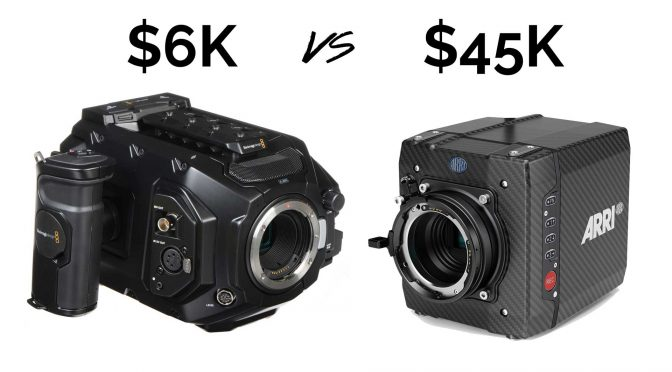 Blackmagic URSA Mini Pro vs ARRI ALEXA Mini